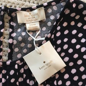 14Y Kids Kate Spade Pink Black Polka Dot Dress